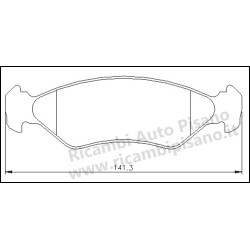 Serie Pastiglie Freno Galfer Ford Fiesta Ka Mazda 121