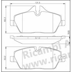 Serie Pastiglie Freno Anteriori BMW Serie 1 116 i / 118 D / 118 i - Mini Cooper