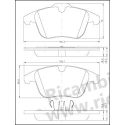 Serie Pastiglie Freno Galfer - Ford Focus S-Max - Galaxy
