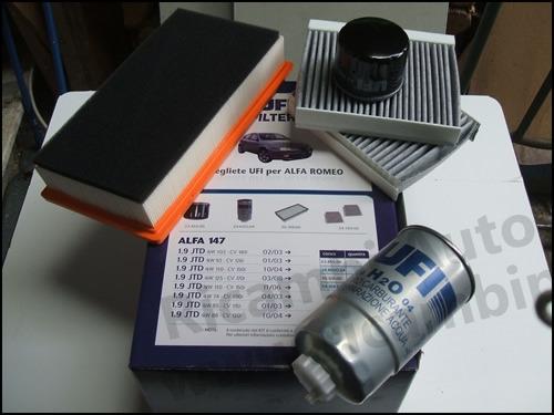 Schema Elettrico Alfa 147 1 9 Jtd : Kit filtri aria olio carburante abitacolo alfa romeo