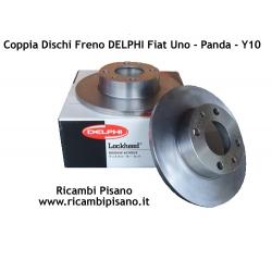 Coppia Dischi Freno DELPHI Fiat Uno Panda Y10 127 128