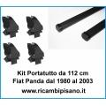 Kit 2 Barre Portatutto con attacchi Fiat Panda dal 1980 al 2003