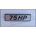Fregio targhetta laterale Fiat 127 75HP